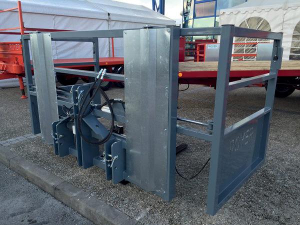 Porte palettes hydraulique Royer, fourches mobiles / battants mobiles